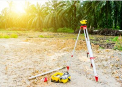 this image shows land surveying in los angeles, ca